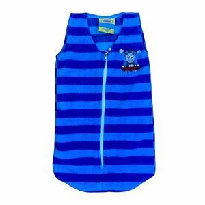 3/$15 Thomas & Friends Blue Striped Sleep Sack with Zipper Baby Size 0-3 M.